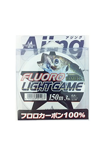 Yamato Yotegus Fluoro Light Game 150 m Clear 0.8 No. (3 LB)