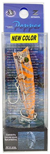Zip Bates ZBL Popper 689 Ghost Clear Shrimp / Lame
