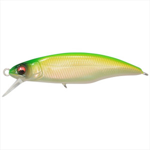 Megabass Great Hunting 50 Flat Side (FS) Ghost Pearl Lime