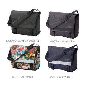 North Face BC Messenger Bag M (BG) Black Emboss × 24K Gold
