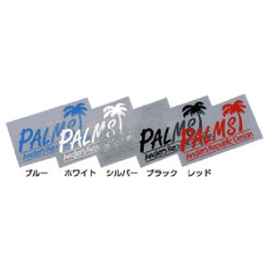 Anglers Republic Palms Transcription Sticker / Blue
