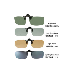 LSD Clip Sunglasses Type 2 Light Gray Flash Mirror
