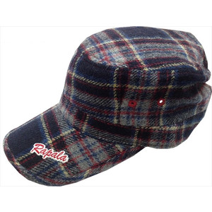 Rapala Wool Check Work Cap Red Blue Check