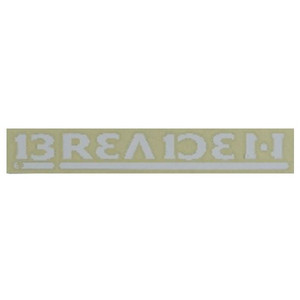 Breeden decal BREADEN 230 W 01 white