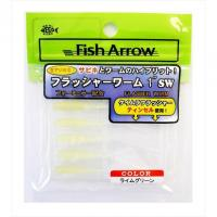 Fish Arrow Flasher Worm 1 # 8 Lime Green