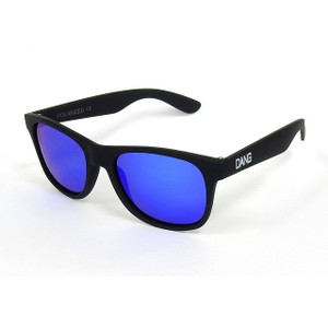 DANG SHADES Polarized sunglasses LOCO Black soft × Blue mirror