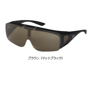 Daiwa Triacetate Honey Raised Polarized Over Glass DO-8024 Brown (Matt Black)