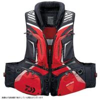 Daiwa DF-3208 PROVISOR Barrier Tech pillow with cyber Float vest red M