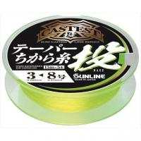 Sunline cast test taper force Thread Throw 75 M Yellow 3-8