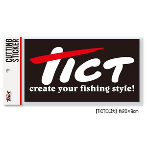 TICT (tick) logo (large) cutting sticker