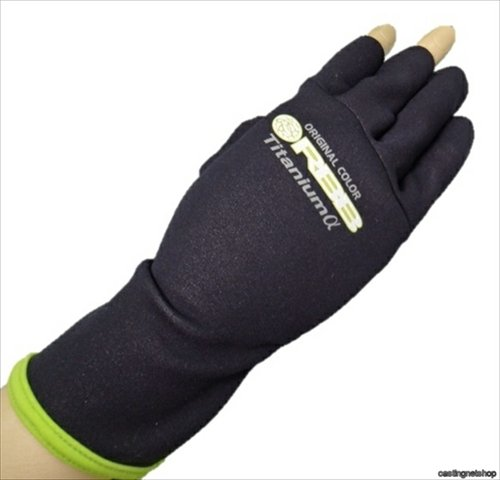 Bip RBB Titanium Glove Black / Lime CA-14 LL Size (around the back of the hand 27 cm)