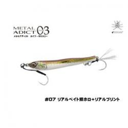 Little Jack Metal ADICT 03 30g # 07 Real Bait Vertical Holo + Real Print